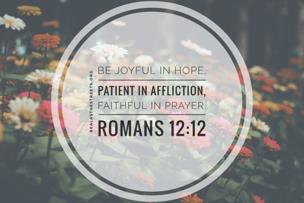 flower background and romans 12:12
